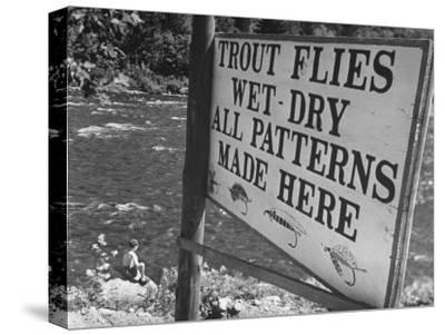 Trout: Wet - Dry All Patterns Made Here Between North Creek and North River, Hudson River Valley-Margaret Bourke-White-Stretched Canvas Print
