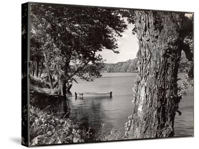 Boat Landing on the Banks of the Hudson River-Margaret Bourke-White-Stretched Canvas Print