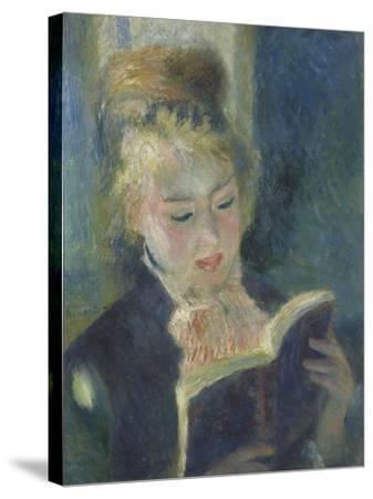 La liseuse-Pierre-Auguste Renoir-Stretched Canvas Print