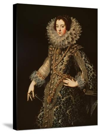 Portrait of Isabel of Bourbon--Stretched Canvas Print