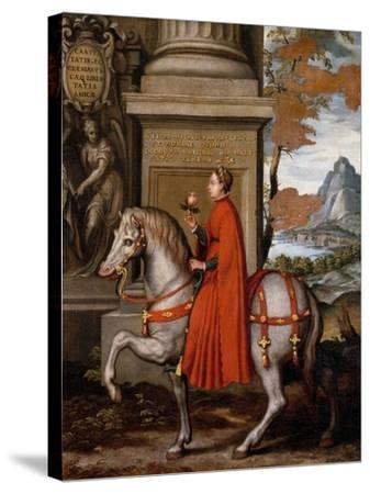 Mathild of Canossa on Horseback-Orazio Farinati-Stretched Canvas Print