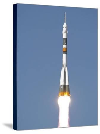 Soyuz TMA-12 Spacecraft Lifts Off into a Cloudless Sky-Stocktrek Images-Stretched Canvas Print