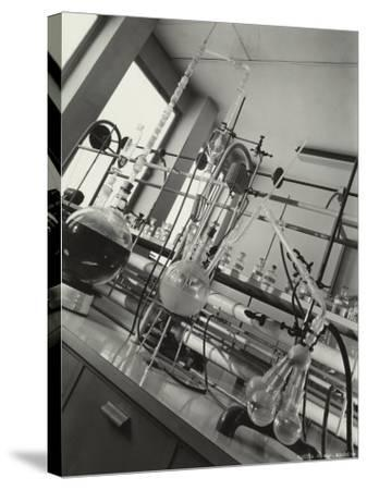 Instruments Inside a Chemical Laboratory-A^ Villani-Stretched Canvas Print