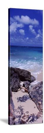 View of Rocks on the Beach, Island Harbour, Anguilla--Stretched Canvas Print