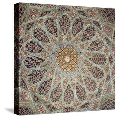 Detail of Interior of the Tomb of the Persian Poet Hafiz, Shiraz, Iran, Middle East-Robert Harding-Stretched Canvas Print