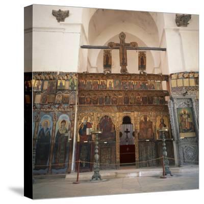 Iconostasis in Former Monastery of Apostolos Varnavas, St. Barnabas, North Cyprus-Christopher Rennie-Stretched Canvas Print