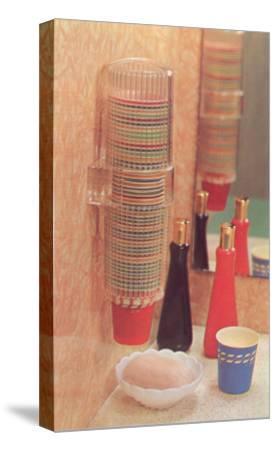 Bathroom Paper Cup Dispenser--Stretched Canvas Print