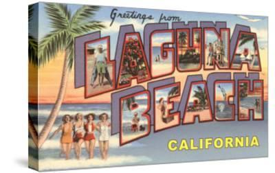 Greetings from Laguna Beach--Stretched Canvas Print
