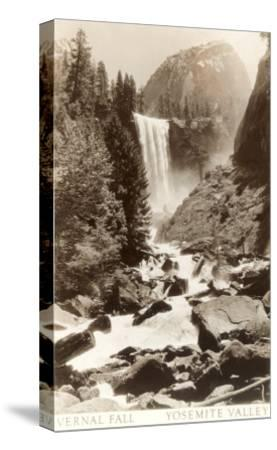 Vernal Falls, Yosemite--Stretched Canvas Print
