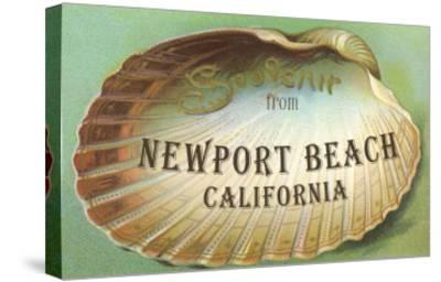 Clam Shell Souvenir from Newport Beach, California--Stretched Canvas Print