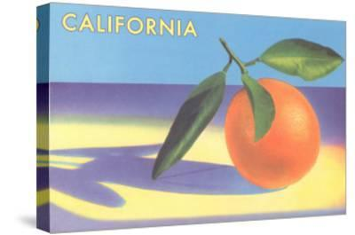 Single Orange with Blue Shadow, Calfornia--Stretched Canvas Print