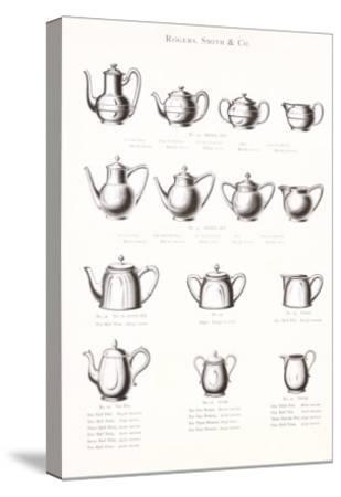 Tea Pot Selection--Stretched Canvas Print