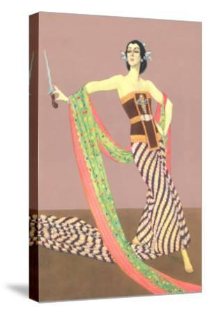 Dancer with Shawl and Knife--Stretched Canvas Print