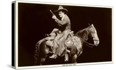 Tom Mix and Tony--Stretched Canvas Print