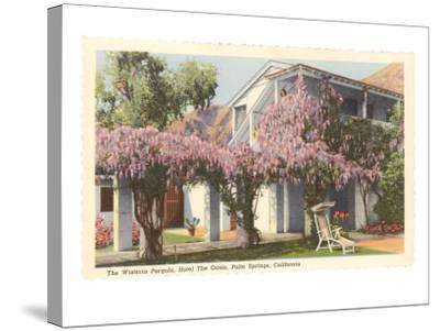 Wisteria Pergola, the Oasis, Palm Springs, California--Stretched Canvas Print