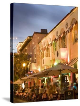 Espanola Way, Miami Beach, Florida, United States of America, North America-Angelo Cavalli-Stretched Canvas Print