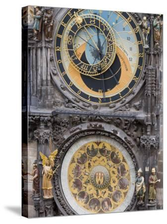 Astronomical Clock, Town Hall, Old Town Square, Old Town, Prague, Czech Republic, Europe-Martin Child-Stretched Canvas Print