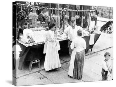 Little Italy, Vendor with Wares Displayed During a Festival, New York, 1930s--Stretched Canvas Print