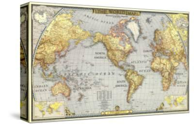 1943 World Map-National Geographic Maps-Stretched Canvas Print