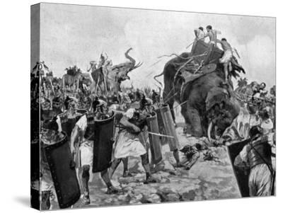 Battle of Zama During Second Punic War--Stretched Canvas Print