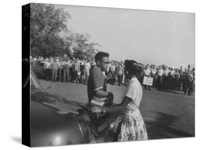 Two African American Students Attempting to Attend Classes at Texarcana College--Stretched Canvas Print