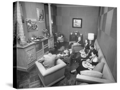 Jinx Falkenburg's Television Room--Stretched Canvas Print