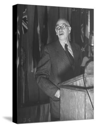 John Maynard Keynes During the Monetary Conf--Stretched Canvas Print