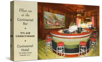 Continental Bar, Hoboken, New Jersey--Stretched Canvas Print