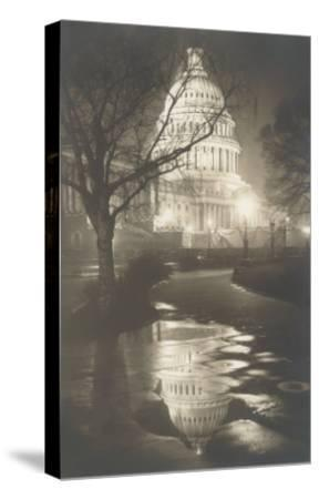 Capitol at Night, Washington, D.C.--Stretched Canvas Print