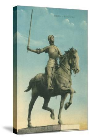 Statue of Jeanne d'Arc--Stretched Canvas Print