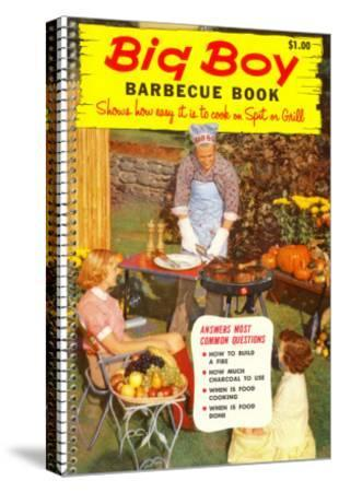Big Boy Barbecue Book, Book Cover--Stretched Canvas Print