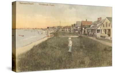 Stannard Beach, Westbrook, Connecticut--Stretched Canvas Print