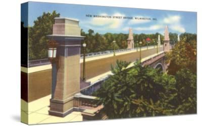 Washington Street Bridge, Wilmington, Delaware--Stretched Canvas Print