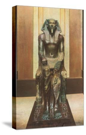 Pharaoh Statue in Cairo Museum, Egypt--Stretched Canvas Print