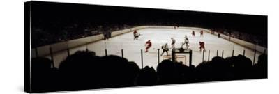Group of People Playing Ice Hockey, Chicago, Illinois, USA--Stretched Canvas Print