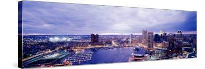 Maryland, Baltimore, Cityscape--Stretched Canvas Print