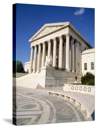 Low Angle View of a Government Building, Us Supreme Court Building, Washington DC, USA--Stretched Canvas Print