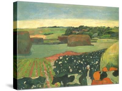 Haystacks in Brittany, 1890-Paul Gauguin-Stretched Canvas Print