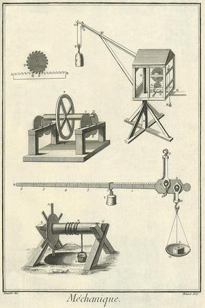 Mechanical Elements, 1777--Stretched Canvas Print