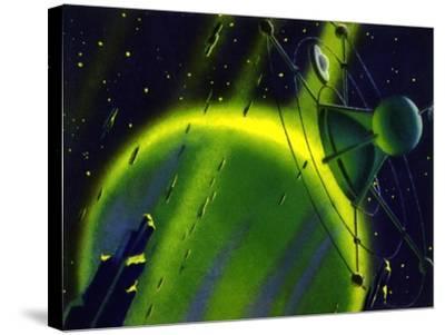 Sci Fi - Satellite in Space, 1950--Stretched Canvas Print