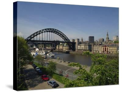 Tyne Bridge and Newcastle Skyline from Gateshead, Tyne and Wear, England, United Kingdom-Charles Bowman-Stretched Canvas Print