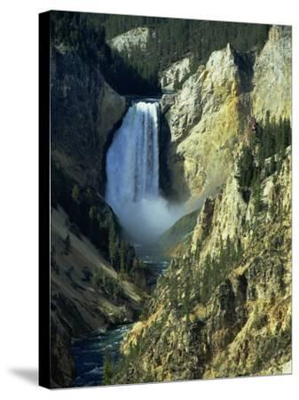 Waterfall, Grand Canyon of the Yellowstone, Yellowstone National Park, Wyoming, USA-Jean Brooks-Stretched Canvas Print