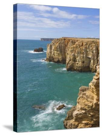 Atlantic Ocean and Cliffs on the Cape St. Vincent Peninsula, Sagres, Algarve, Portugal, Europe-Neale Clarke-Stretched Canvas Print