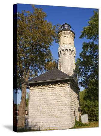 Niagara Lighthouse, Old Fort Niagara State Park, Youngstown, New York State, USA-Richard Cummins-Stretched Canvas Print