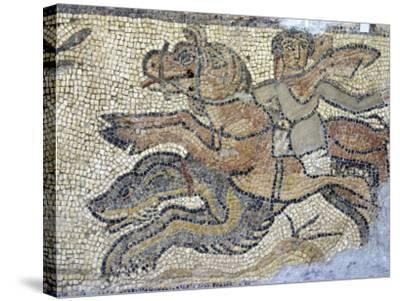 Mosaic, Currently in the Museum, Taken from the Greek and Roman Site of Cyrene, Libya-Ethel Davies-Stretched Canvas Print