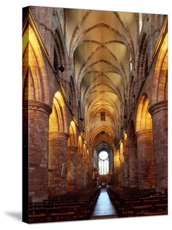 Interior of St. Magnus Cathedral, Kirkwall, Mainland, Orkney Islands, Scotland, UK-Patrick Dieudonne-Stretched Canvas Print