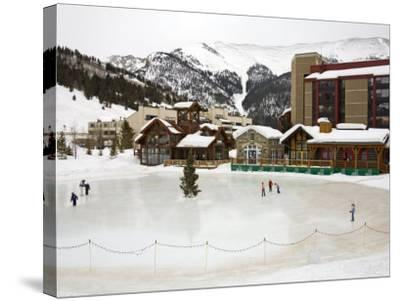 Ice Rink at Copper Mountain Ski Resort, Rocky Mountains, Colorado, USA-Richard Cummins-Stretched Canvas Print