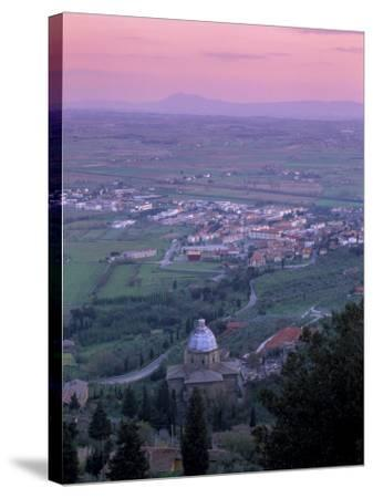 View from the Town at Sunset, Cortona, Tuscany, Italy, Europe-Patrick Dieudonne-Stretched Canvas Print