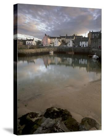 Old Harbour Dating from the 17th Century, of Portsoy at Sunset, Near Banff, Aberdeenshire, Scotland-Patrick Dieudonne-Stretched Canvas Print