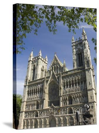 Facade of the Nidarosdomen Og Cathedral, Trondheim, Norway, Scandinavia, Europe-James Emmerson-Stretched Canvas Print